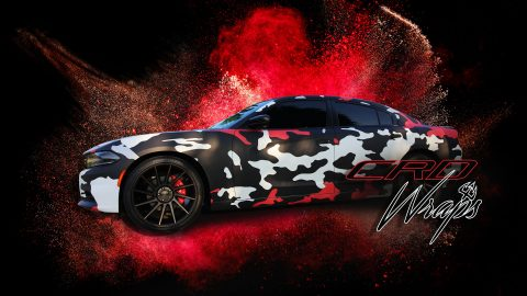 Dodge Charger Custom Camo Wrap