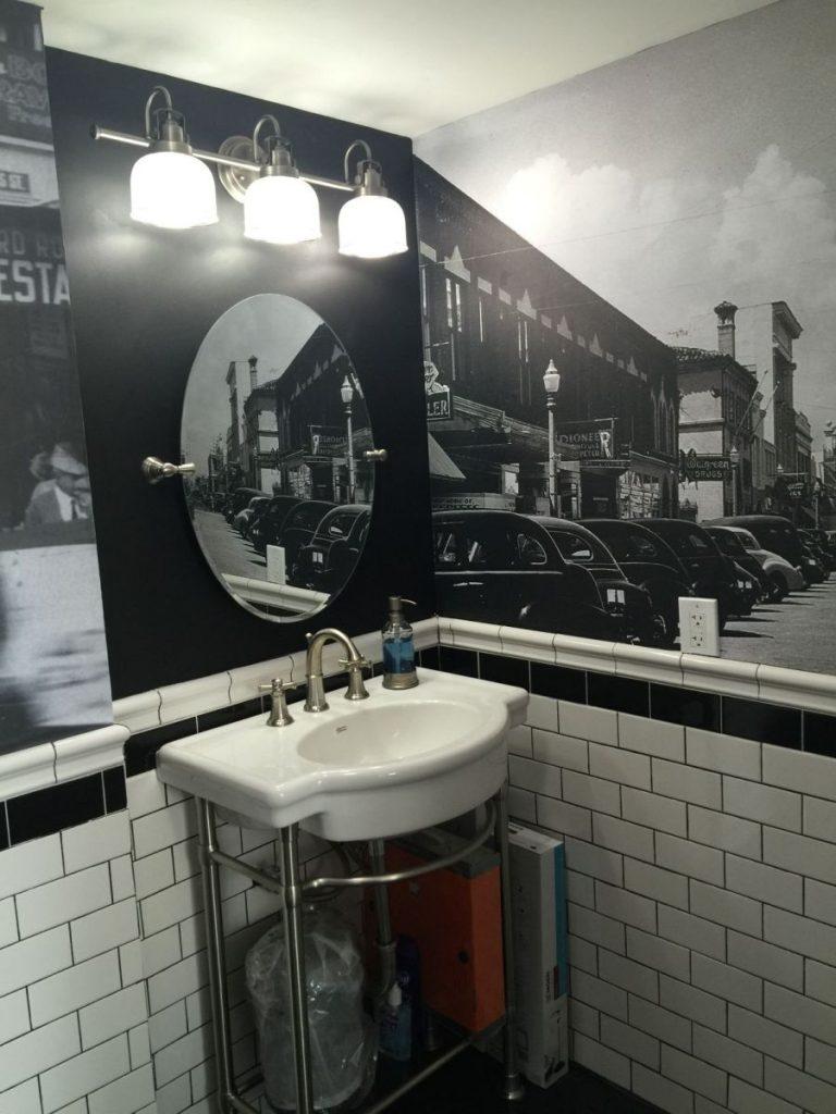 40s Bathroom Wall Wrap