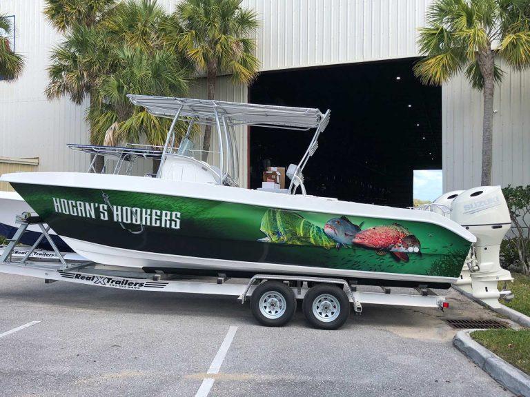 Hogans Hookers Boat Wrap