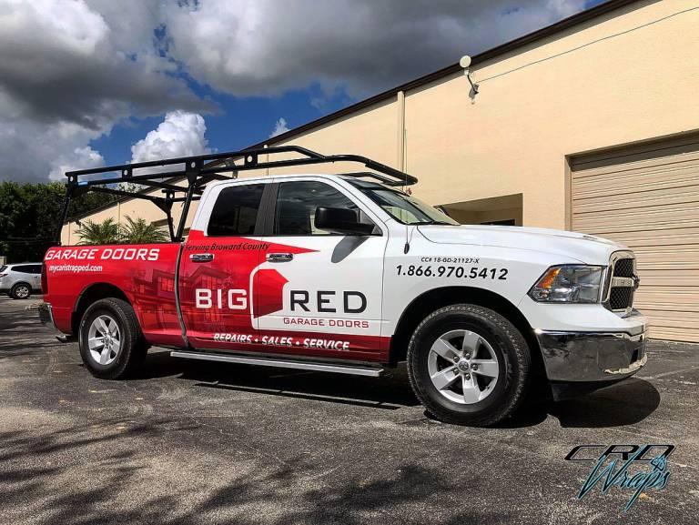 Truck Wrap – Big Red Garage Doors