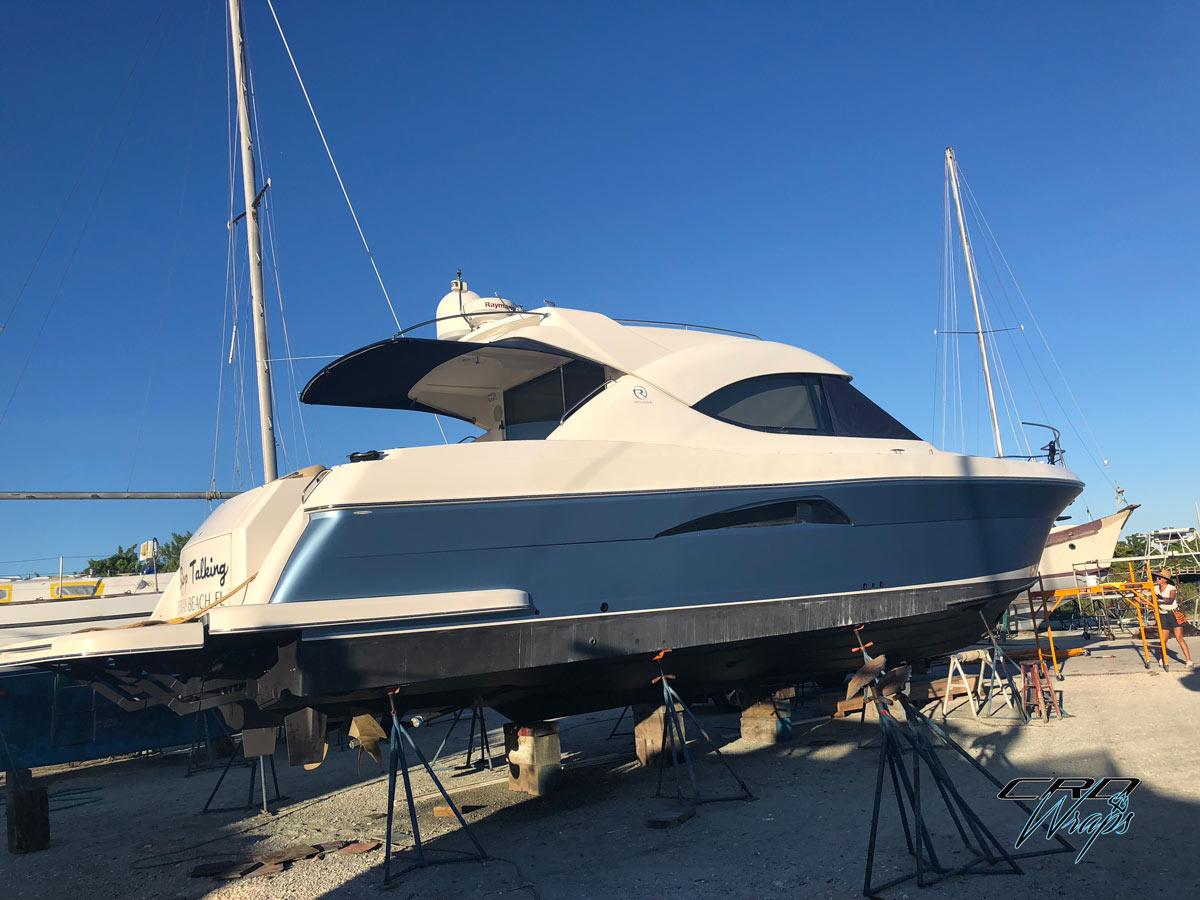 Vinyl Boat Wrap in Wellington