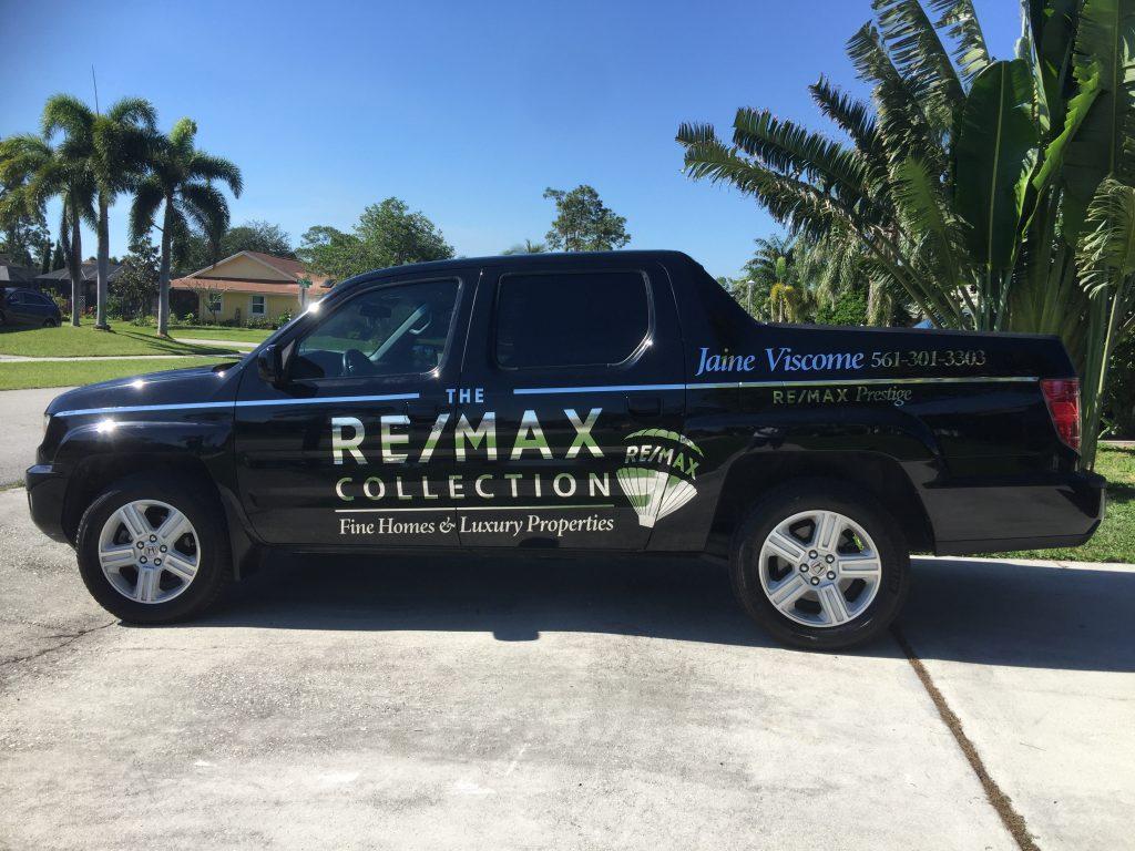 Black Custom truck wrap