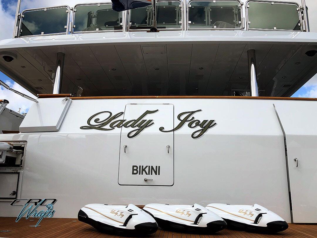 Full Wrap to match the Lady Joy Luxury Motor Yacht