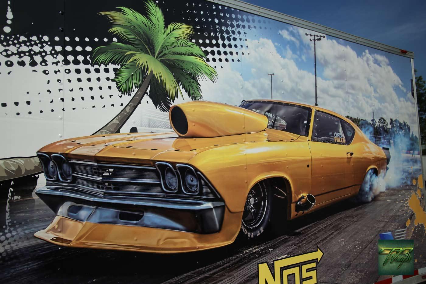 Custom 32' Race Trailer Wrap