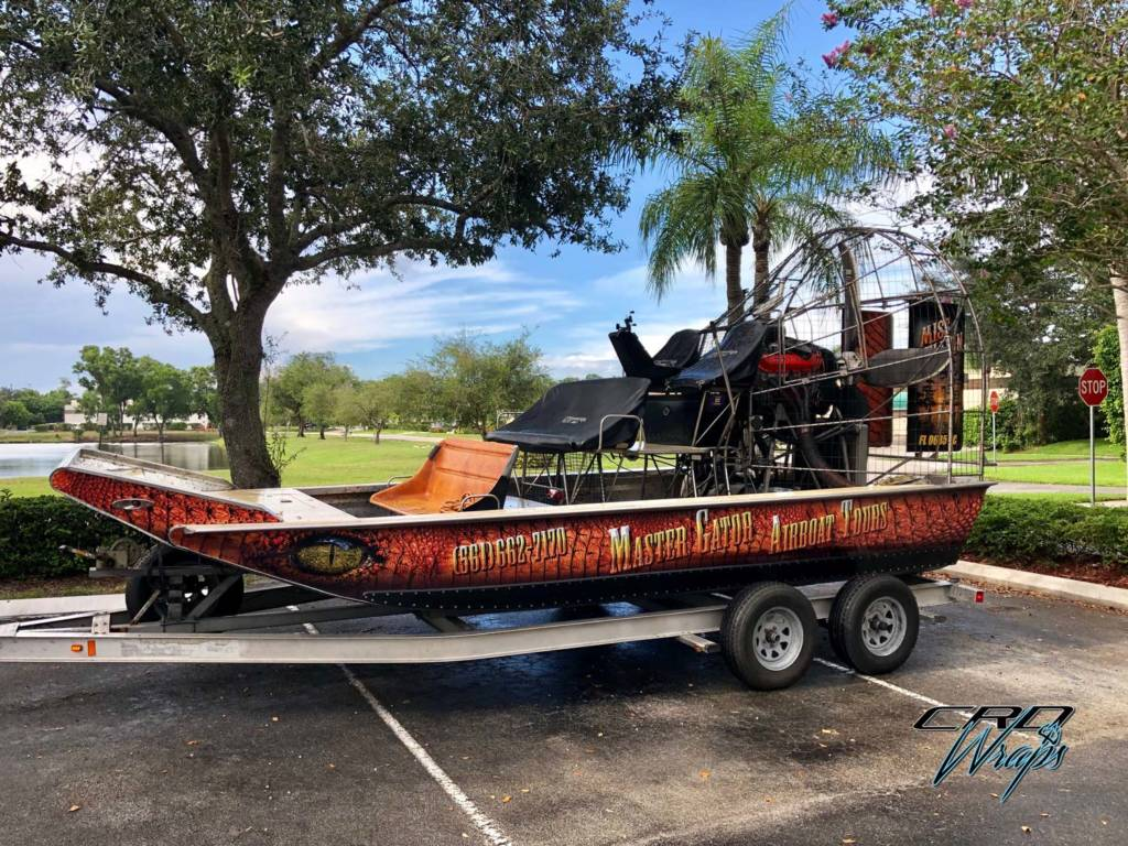 Master Gator Airboat Tours Full Wrap
