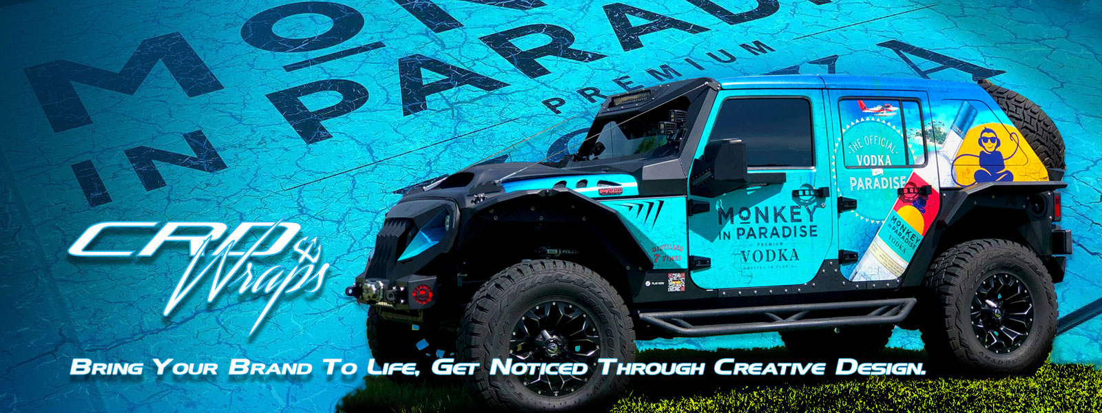 Monkey in Paradise Jeep Wrap
