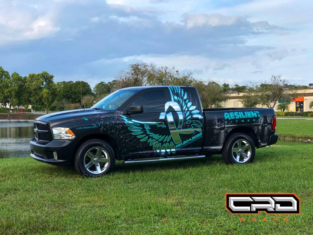 Multi Layer Custom Truck Wrap